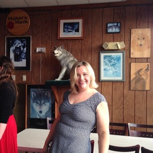 Kindly disregard the wolf wall behind me. My birthday party was at Cadillac Ranch, and this is their standard decor...
