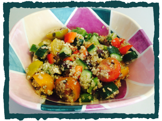 greek veggie quinoa salad image